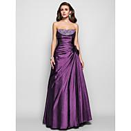 Prom / Formal Evening / Military Ball Dress - Plus Size / Petite A-line / Princess Strapless Floor-length Taffeta