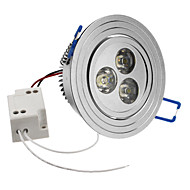 3W 240-270LM 6000-6500K Natural White Light LED plafond lamp (85-265V)