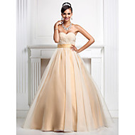 Prom/Formal Evening/Quinceanera/Sweet 16 Dress - Champagne Plus Sizes Ball Gown/Princess Sweetheart/Strapless Floor-length Organza