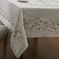 Beige Lin Rectangulaire Nappes de table