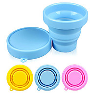 כוס סיליקון צבע הממתקים מתקפלים 170ml (צבע אקראי)