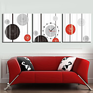 Modern Style Geometry Wall Clock in Canvas 3pcs
