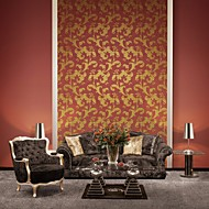Country Flying Leaves PVC Wall Paper