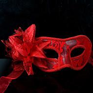 Maske Cosplay Festival/Højtider Halloween Kostumer Rød / Hvid / Sort Ensfarvet / Blonde Maske Halloween / Karneval / Nytår Unisex Blonde