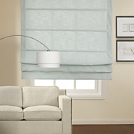 Classic Light Blue Cotton Roman Shade