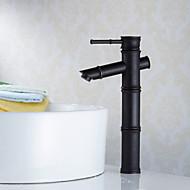 Traditional Vessel Single Handle One Hole in Oil-rubbed Bronze Bathroom Sink Faucet