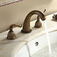 Sprinkle® Sink Faucets  ,  Antique  with  Antique Brass Two Handles Three Holes  ,  Feature  for Widespread