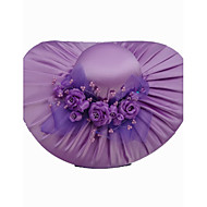 Fashion Satin With Satin Flowers Wedding/ Partying/ Honeymoon Hat More Colors Available