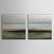 Hand Painted Oil Painting Abstract with Stretched Frame Set of 2 1308-AB0741