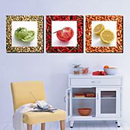 Trasferimenti su tela Art Food Pomodoro e Limon Set di 3