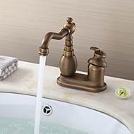 Deck Mounted Single Handle Two Holes with Antique Brass Kitchen faucet