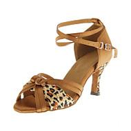 Customizable Women's Dance Shoes Latin/Ballroom Leatherette Customized Heel Leopard