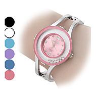 Mulheres Relógio de Moda Bracele Relógio Quartzo imitação de diamante Lega Banda Brilhante Bracelete PrataPreto Roxo Azul Rosa claro Azul