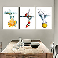 Stretched Canvas Art Still Life Fruit in Water Set of 3