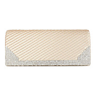 Women Silk Event/Party Evening Bag Silver / Ivory