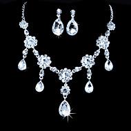 Licht Metaal Dames Sieraden set Bergkristal/Kubieke Zirkonia