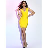 Sheath/Column V-neck Short/Mini Grace Bandage Dress