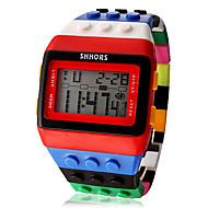 Heren / Dames / Uniseks Modieus horloge Digitaal LCD / Kalender / Chronograaf / alarm Plastic Band Snoep / Cool Meerkleurig Merk