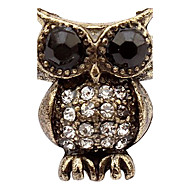South Korea Full Of Diamond Jewelry Retro Owl Ring