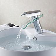 salle de bains robinet d'évier en glacier conception de baie bec de verre robinet cascade