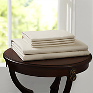 """einfach&opulence® Spannbettlaken, 500 tc 100% Baumwolle solide bis 15 """"tiefe beige"""