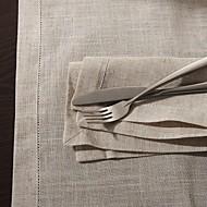 Beige Linen Square Napkin
