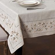 """43 """"x 63"""" hemstitch rectangulaire linge de table en lin floral"""