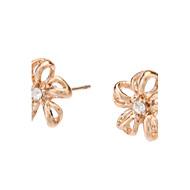 Rose Gold Hollow Flower Stud Earrings
