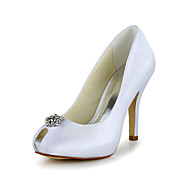 Women's Wedding Shoes Peep Toe Heels Wedding Black/Blue/Pink/Purple/Red/Ivory/White/Silver/Gold/Champagne