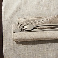 ensemble de 6 classique serviette en lin solide