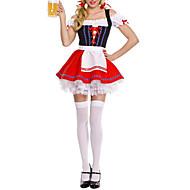 festa della birra ragazza carina cameriera rosso uniforme (un formato)