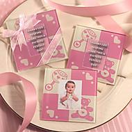 Mignon bébé ours Coaster (Baby Pink)