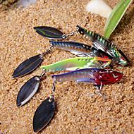 1 pcs Hard Bait / Vibration/VIB / Fishing Lures Vibration/VIB / Hard Bait Black / Green / Yellow / Red / Assorted Colors g Ounce mm inch,