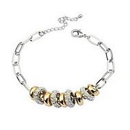 Women's Charm Bracelet Alloy Rhinestone