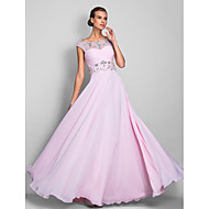 TS Couture® Prom / Military Ball / Formal Evening Dress - Blushing Pink Plus Sizes / Petite A-line Scoop Floor-length Chiffon
