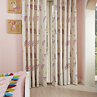 Two Panels Michelle Luxury® Country Girl's Hat Embroidery Kids Curtains Drapes