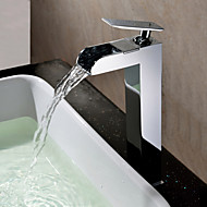 Sprinkle® Badarmaturen  ,  Arbeitsplatte  with  Chrom Ein Griff Ein Loch  ,  Feature  for Wasserfall / Mittelset