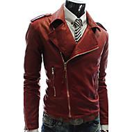Mænds Multi Zipper Leather Jacket