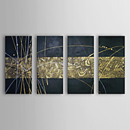 Hand-Painted Abstract 100% Hang-Painted Oil Painting,Realism Four Panels Canvas Oil Painting For Home Decoration