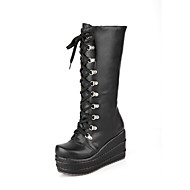 Women's Platform Wedge Heel Mid-Calf Boots More Colors available