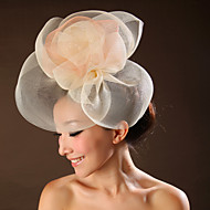 Tulle Flowers Wedding Headpieces(More Colors)