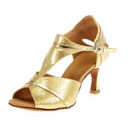 Fashion Womens Leather And Fabric Upper Jazz Dance Shoes More Colors Women s Sparkling Glitter