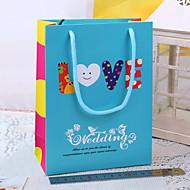 귀여운 파란 결혼식 호의 가방 - 사랑