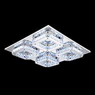 Umei ™ levou cristal montagem embutida, 4 luz, de aço inoxidável moderna galvanoplastia transparente