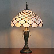 Pärlor Dekoration Bordslampa, 2 ljus, Tiffany Resin glasmålning