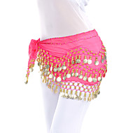 Dancewear Chiffon Belly Dance Belt With 128 Coins For Ladies(More Colors)
