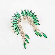 빛나는 모조 다이아몬드 드롭 귀걸이 (색상 선택)을 가진 호화스러운 합금