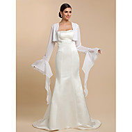 Wedding  Wraps Coats/Jackets Long Sleeve Chiffon White Wedding / Party/Evening / Casual T-shirt Open Front