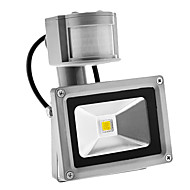 PIR 10W 900LM Outdoor Motion Sensor Day Night 6000K Cool White Light LED Flood Light (AC85-265V)