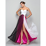 TS Couture Formal Evening Military Ball Dress - Celebrity Style Furcal A-line Princess Sweetheart Floor-length Chiffon withCriss Cross